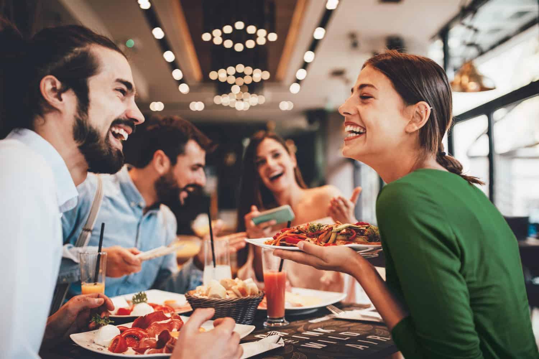 People enjoying meal out - restaurant digital marketing