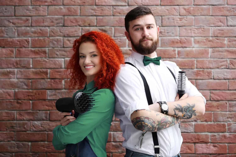 Hairdresser and barber back to back - Hair salon digital marketing