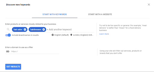 How to find new Keywords with the Google Ads Keyword Planner