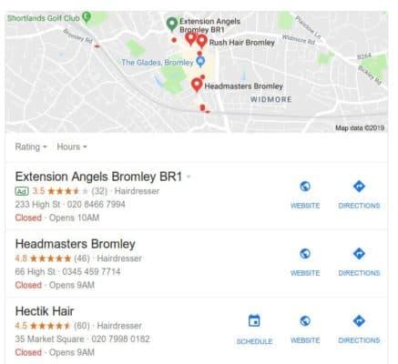 Ranking factors on Google My Business