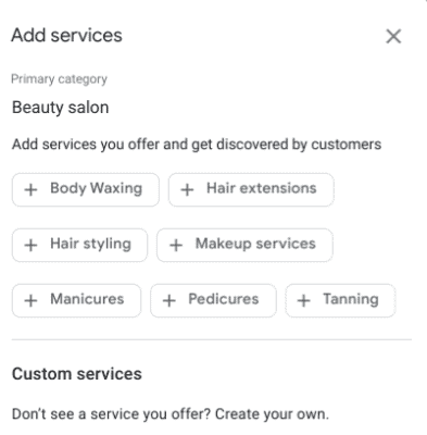 services google my business